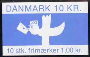 Booklet - Denmark 1984 Bird with Letter 10k booklet complete & pristine, SG SB109