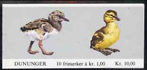 Booklet - Norway 1980 Birds (1st series) 10k booklet complete fine cds used, SG SB62