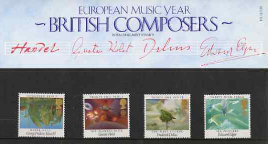Great Britain 1985 Europa - British Composers set of 4 in official presentation pack SG 1282-85