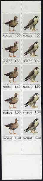 Booklet - Norway 1980 Birds (2nd series) 13k booklet complete and pristine, SG SB64