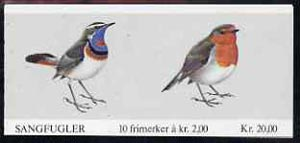 Booklet - Norway 1982 Birds (3rd series) 20k booklet complete and pristine, SG SB66