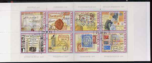 Booklet - Norway 1995 Norwegian Postal Service 28k booklet complete fine cds used, SG SB96