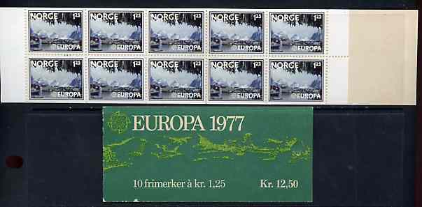 Booklet - Norway 1977 Europa 12k50k booklet complete and pristine, SG SB51
