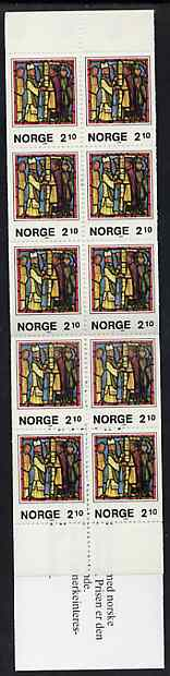 Booklet - Norway 1986 Christmas 21k booklet complete and pristine, SG SB75