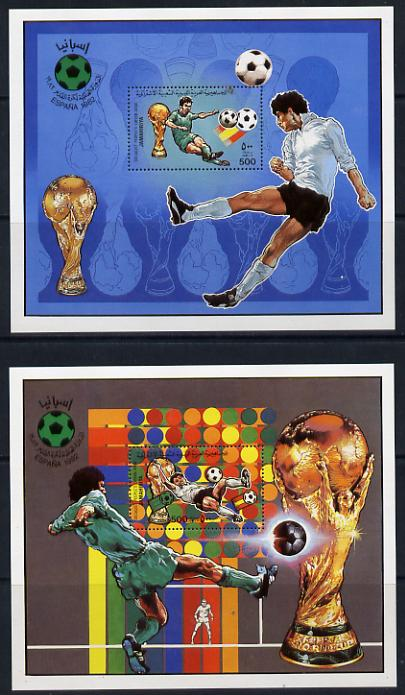Libya 1982 Football World Cup set of 2 perf m/sheets unmounted mint Mi BL 61-2A