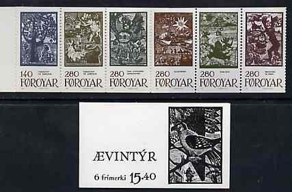 Booklet - Faroe Islands 1984 Fairy Tales 15k40 booklet complete and fine SG SB3