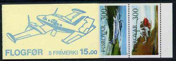 Booklet - Faroe Islands 1985 Aircraft 15k booklet complete and fine SG SB4