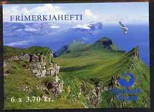 Booklet - Faroe Islands 1991 Birds 22k20 booklet complete and fine SG SB5