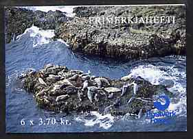 Booklet - Faroe Islands 1992 Seals 22k20 booklet complete with first day commemorative cancel SG SB6
