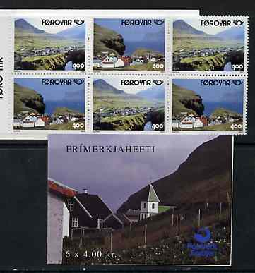Booklet - Faroe Islands 1993 Postal Co-operation 24k booklet complete and fine SG SB7