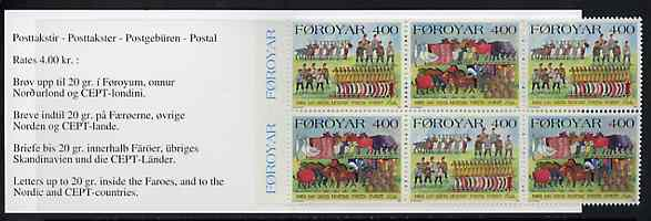Booklet - Faroe Islands 1994 On The First Day Of Christmas 24k booklet complete and fine SG SB9