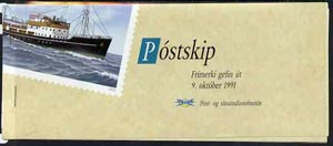 Booklet - Iceland 1991 Stamp Day - Ships 240k booklet complete and pristine