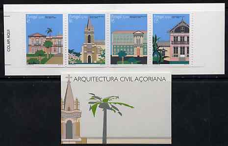 Booklet - Portugal - Azores 1995 Architecture 355E booklet complete and pristine, SG SB14