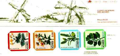 Booklet - Portugal - Azores 1981 Regional Flowers 85E50 booklet (Windmill on covers) complete and very fine, SG SB2