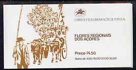 Booklet - Portugal - Azores 1982 Regional Flowers 74E50 booklet (Oxen on cover) complete and very fine, SG SB3