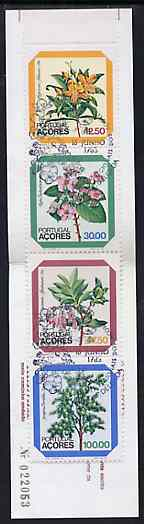 Booklet - Portugal - Azores 1983 Regional Flowers 180E booklet (Woman on cover) complete (stamps with commemorative cancel), SG SB4