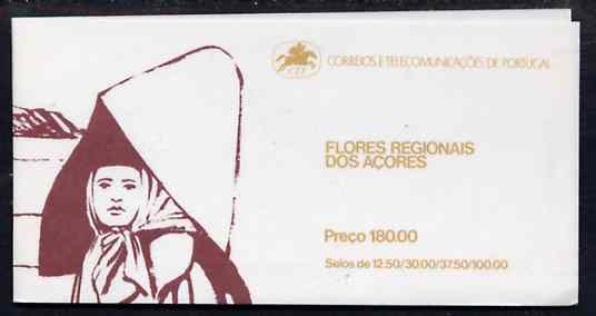 Booklet - Portugal - Azores 1983 Regional Flowers 180E booklet (Woman on cover) complete and very fine, SG SB4