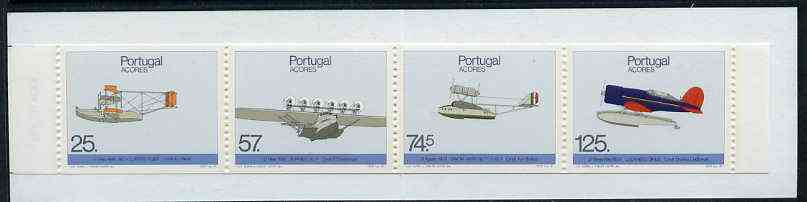 Booklet - Portugal - Azores 1987 Historic Airplane Landings 281E50 booklet complete and pristine, SG SB8