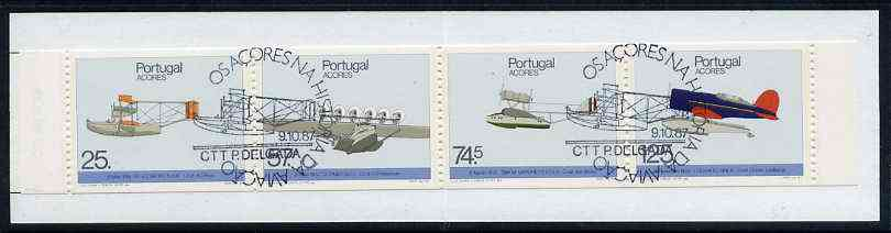 Booklet - Portugal - Azores 1987 Historic Airplane Landings 281E50 booklet complete with commemorative first day cancel, SG SB8