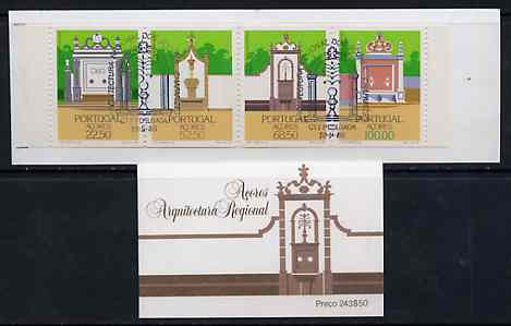 Booklet - Portugal - Azores 1986 Regional Architecture (Drinking Fountains) 243E50 booklet complete with commemorative first day cancel, SG SB7