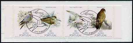 Booklet - Portugal - Azores 1988 Nature Protection (Birds) 267E booklet complete with commemorative first day cancel, SG SB9