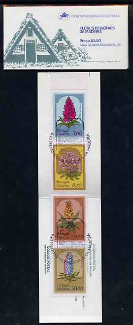 Booklet - Portugal - Madeira 1981 Regional Flowers 85E50 booklet complete with commemorative first day cancel, SG SB1
