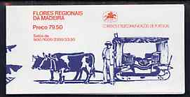 Booklet - Portugal - Madeira 1982 Regional Flowers 79E50 booklet (Oxen on cover) complete and very fine, SG SB2