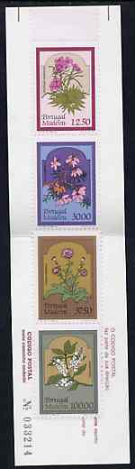 Booklet - Portugal - Madeira 1983 Regional Flowers 180E booklet (Sewing on cover) complete and very fine, SG SB3