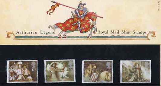 Great Britain 1985 Arthurian Legends set of 4 in official presentation pack SG 1294-97