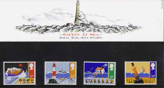Great Britain 1985 Safety at Sea set of 4 in official presentation pack, SG 1286-89