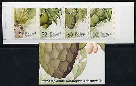 Booklet - Portugal - Madeira 1990 Sub-Tropical Fruit 197E booklet complete and pristine, SG SB10