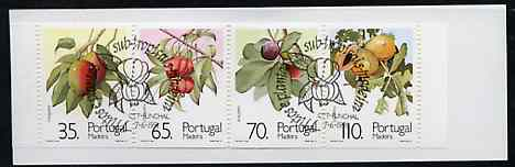 Booklet - Portugal - Madeira 1991 Sub-Tropical Fruit 280E booklet complete with commemorative first day cancel, SG SB11