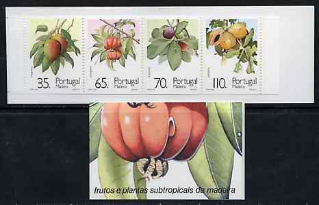 Booklet - Portugal - Madeira 1991 Sub-Tropical Fruit 280E booklet complete and pristine, SG SB11