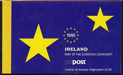 Booklet - Ireland 1992 Single European Market \A34.80 booklet complete with special commemorative first day cancels, SG SB43