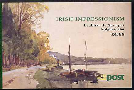 Booklet - Ireland 1993 Irish Impressionist Painters \A34.68 booklet complete with special commemorative first day cancels, SG SB44