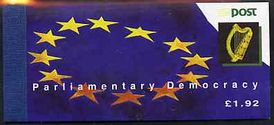 Booklet - Ireland 1994 Parliamentary Anniversary \A31.92 booklet complete with special commemorative first day cancels, SG SB49