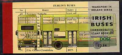 Booklet - Ireland 1993 Irish Buses \A32.84 booklet complete with special commemorative first day cancels, SG SB47