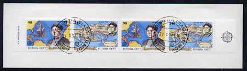 Booklet - Greece 1992 Europa (Discovery of America) 860Dr booklet complete with first day cancels