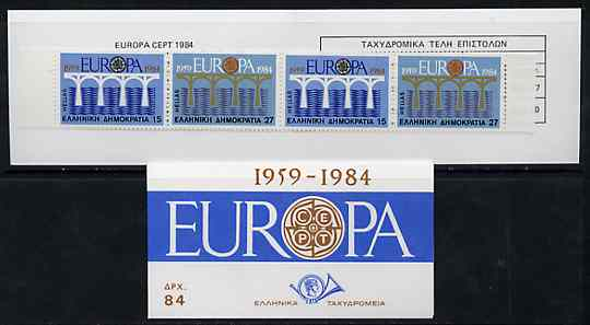 Booklet - Greece 1984 Europa (CEPT) 84Dr booklet complete and very fine