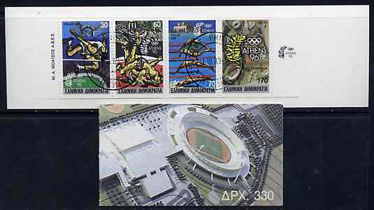 Booklet - Greece 1989 Centenary of Olympic Games 330Dr booklet complete with first day cancels