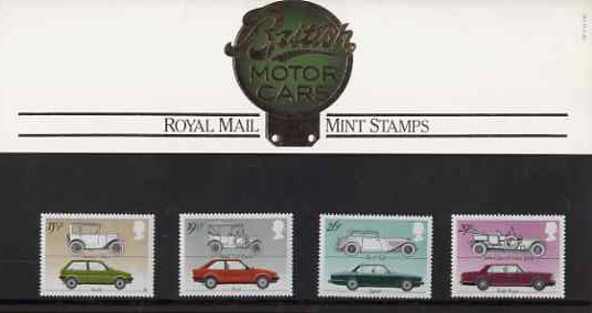 Great Britain 1982 British Motor Cars set of 4 in official presentation pack SG 1198-1201