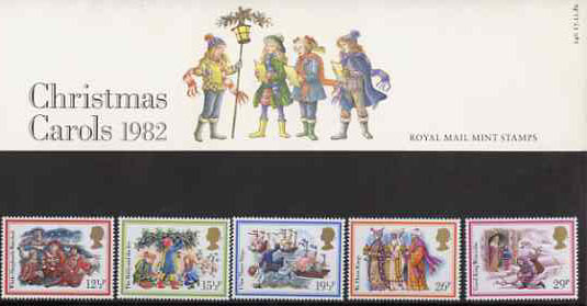 Great Britain 1982 Christmas - Carols set of 5 in official presentation pack SG 1202-06