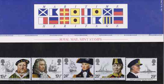 Great Britain 1982 Maritime Heritage set of 5 in official presentation pack SG 1187-91