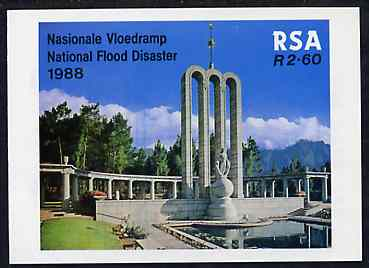 Booklet - South Africa 1987-88 National Flood Relief Fund #4 (Huguenot Monument) 2r60 booklet complete and pristine, SG SB23