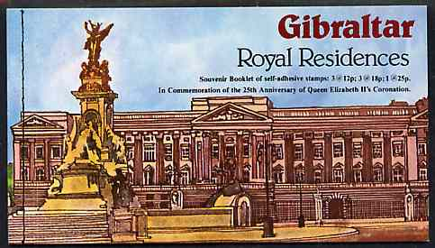Booklet - Gibraltar 1978 25th Anniversary of Coronation �1.15 self-adhesive booklet complete and pristine SG SB5