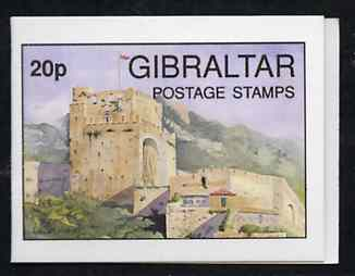 Booklet - Gibraltar 1993 Moorish Castle 20p booklet complete and pristine (Contains 4 x 5p Post Office) SG B8