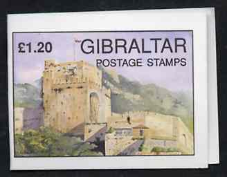 Booklet - Gibraltar 1993 Moorish Castle �1.20 booklet complete and pristine (Contaings 5 x 24p Garrison Library) SG B9