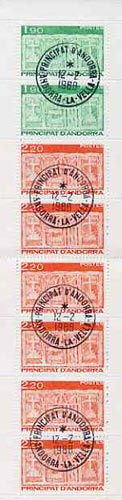 Booklet - Andorra - French 1987 Early Coat of Arms 17f booklet complete with fine cds cancels, SG SB1