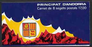 Booklet - Andorra - French 1987 Early Coat of Arms 17f booklet complete and pristine, SG SB1