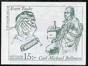 Booklet - Sweden 1990 Birth Anniversarys of Carl Bellman & Evert Taube (Poets) 15k booklet complete and very fine, SG SB430